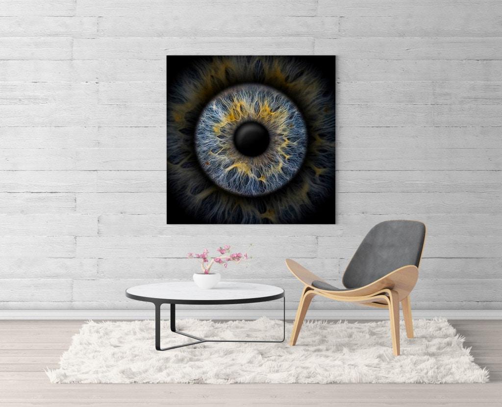 Iris Einzelfoto Leinwand