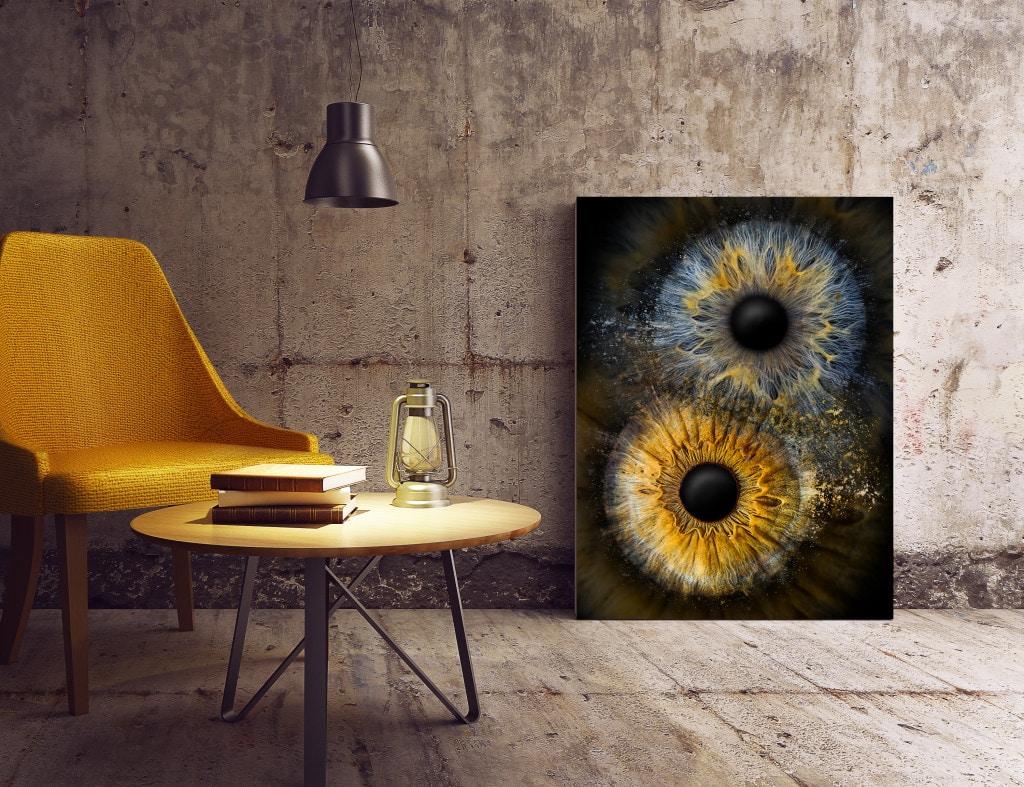 Iris-Foto Fusion auf Leinwand