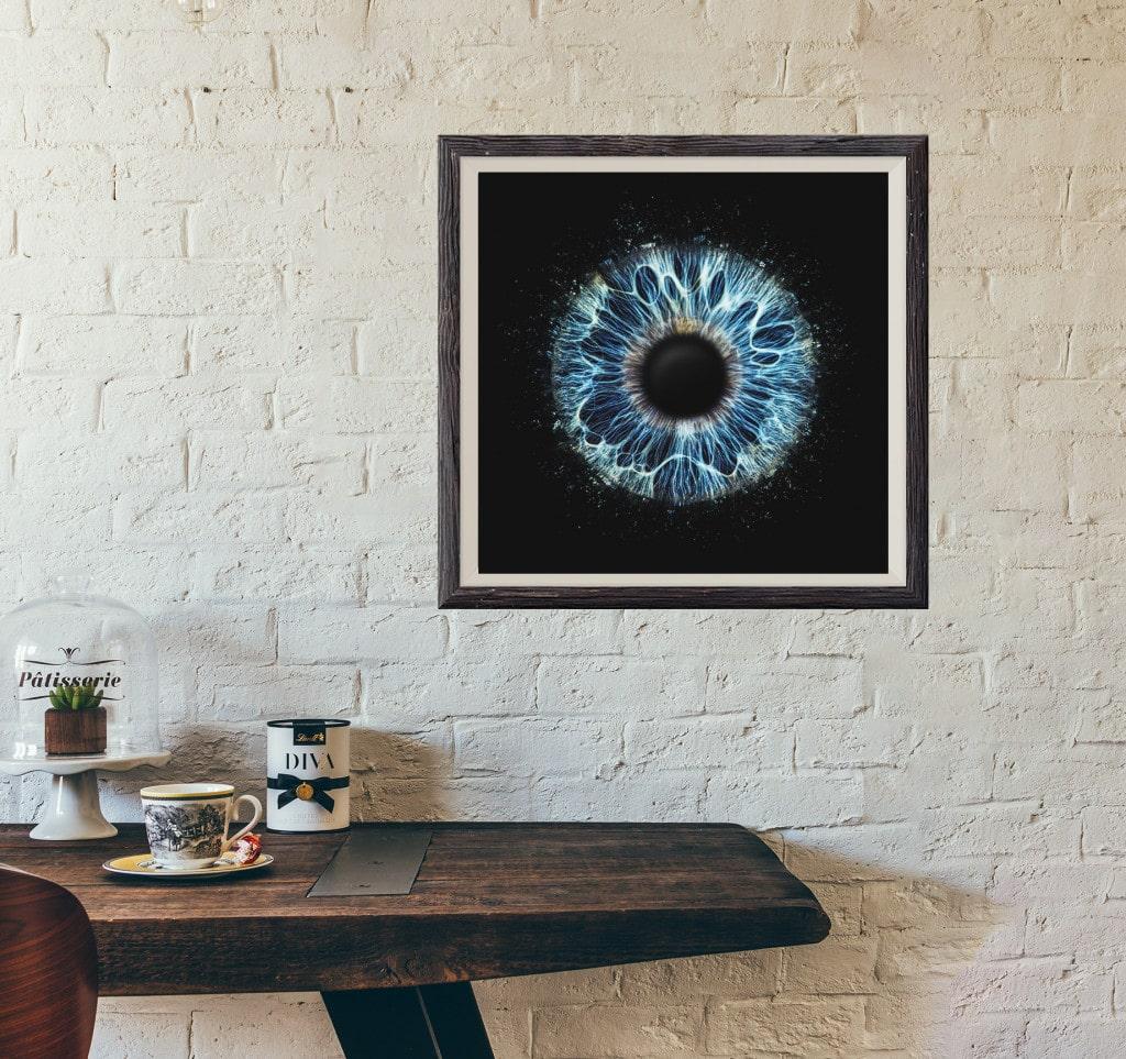 Iris-Foto quadrat