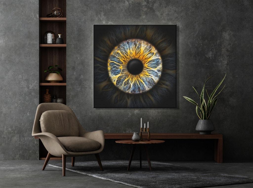Iris-Fotografie Leuchtbild Einzelfoto