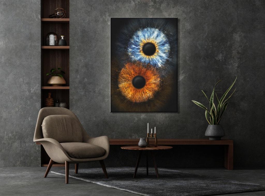 Iris-Fotografie Leuchtbild Fusion